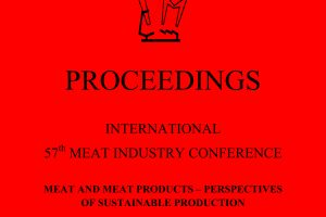 Proceedings of International 57th Meat Industry Conference